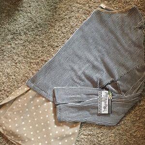 Long sleeve sweater/dots top